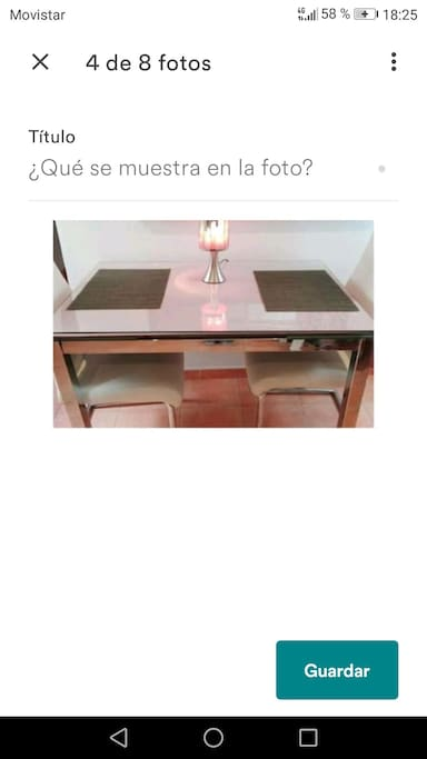 mesa para comer salón