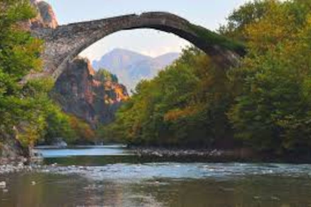 Aoos or Konitsa Bridge