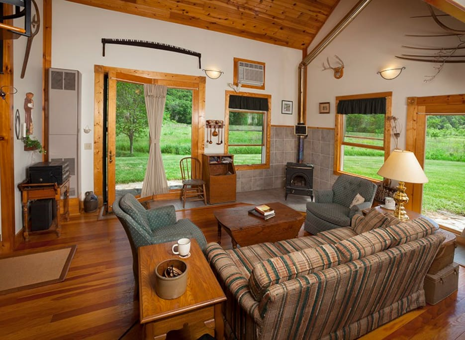 The Living Room with a view of the prairie