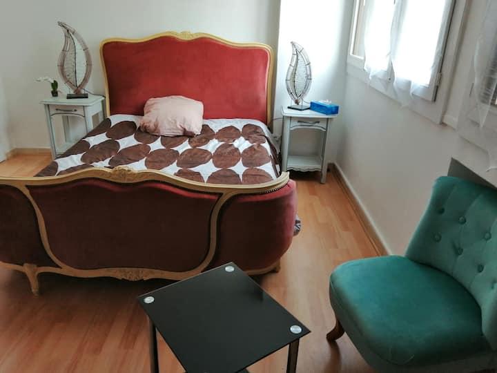 Jolie chambre Longchamps Next Station & Center