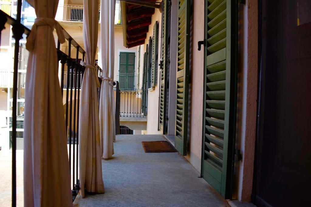 Balcone privato appartamento