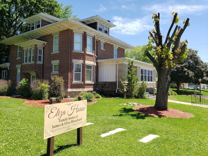 Eliza House, Stay in the History of Blanchardville