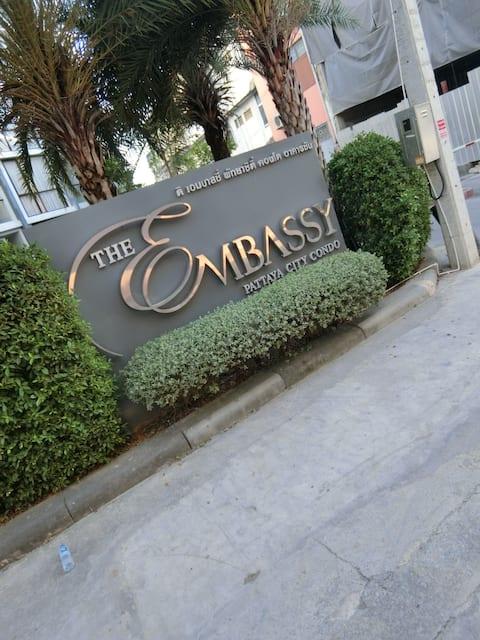 ❤️The embassy pattaya city condo48/62❤️芭提雅大使馆公寓