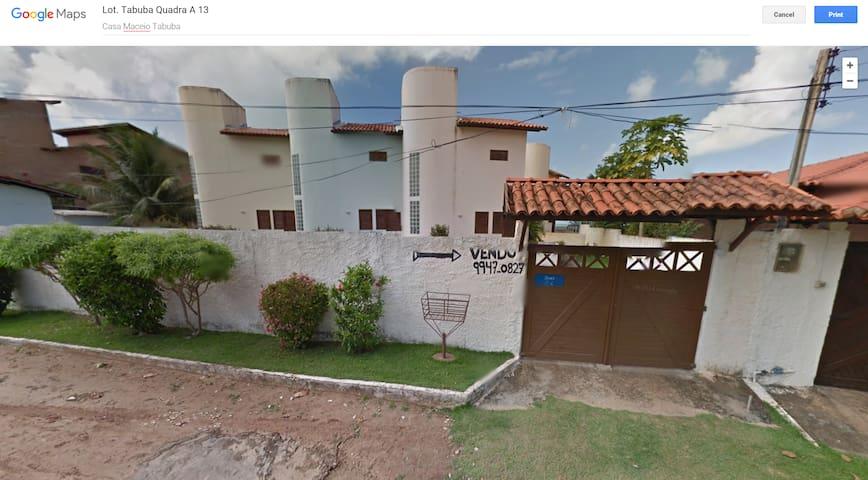 Casa beira-mar a 30 km de Maceio - Barra de Santo Antônio
