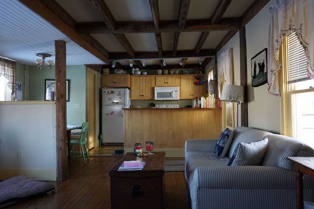 Spacious living area.  Remodeled 1800's farmhouse.  Pullout couch.