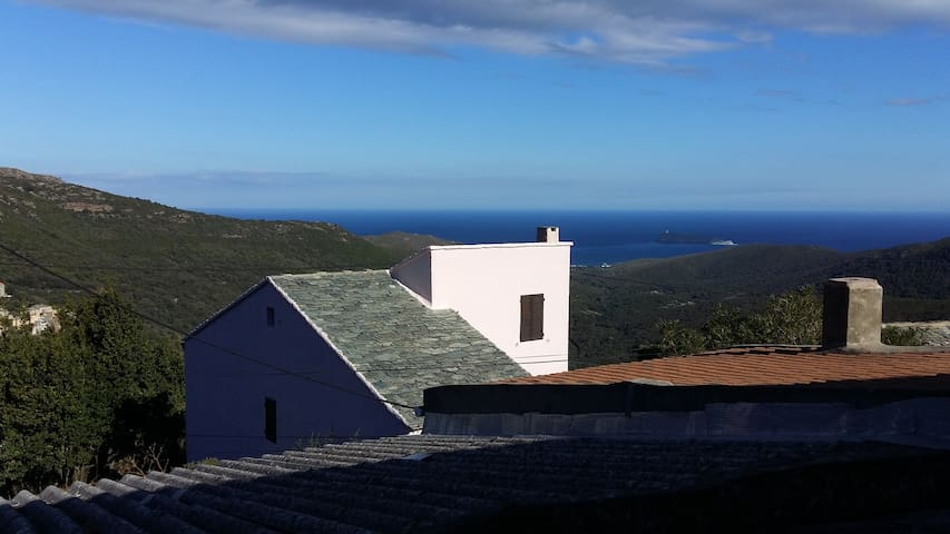 Maison typique Cap Corse vue mer - Ersa - Casa