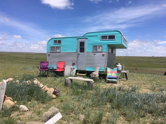 Prairie Princess Vintage Camper with Big Views!