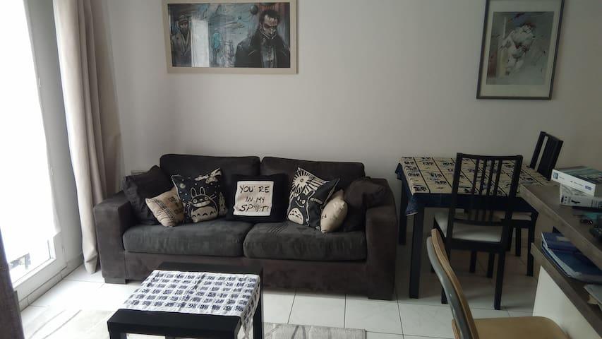 Appartement cosy à Pontoise, très bien situé
