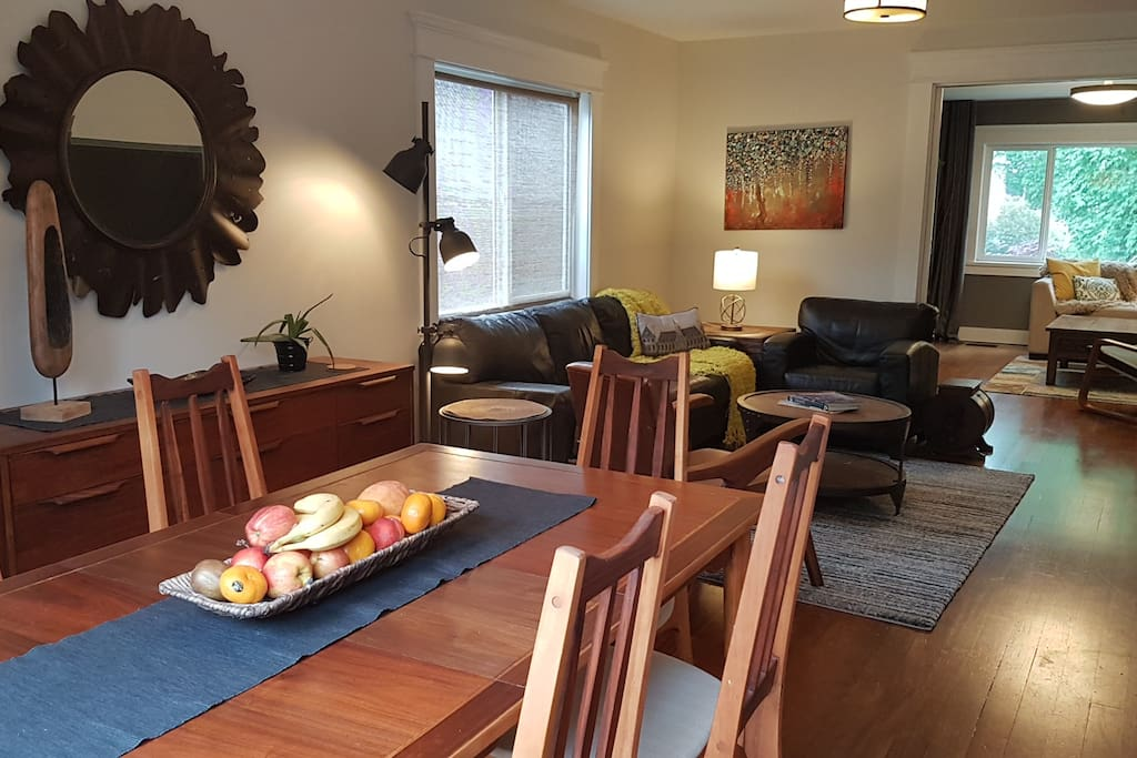Main Floor Dining / Living Room