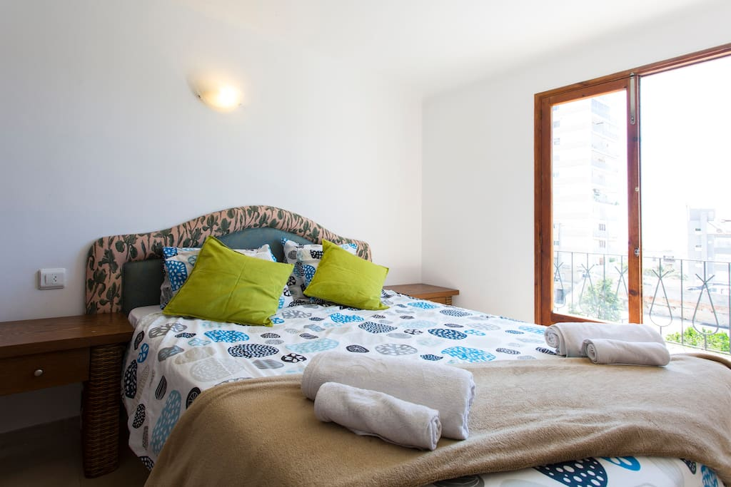 Top floor double, leads out to top floor terrace, all bedrooms has wifi.