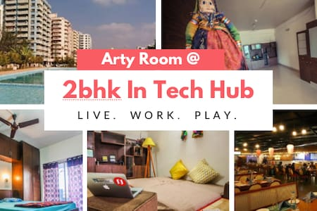 ARTY ROOM+PRIVATE+QUIET+POOL - Bangalore - Wohnung