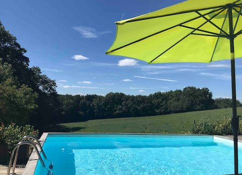 Appart. atypique et piscine privée sans vis à vis