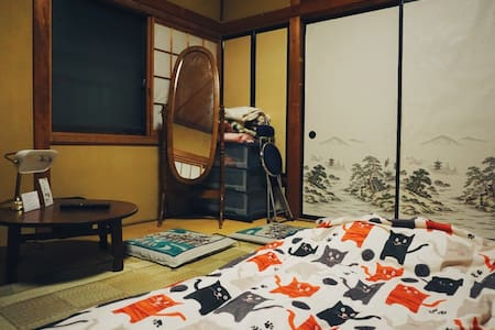 Cats & Japanese traditional room and foods,ODEN. - Shizuoka-shi