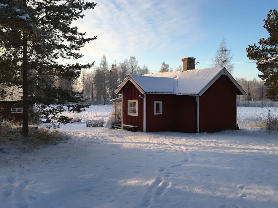 The cottage coming in to winter time.