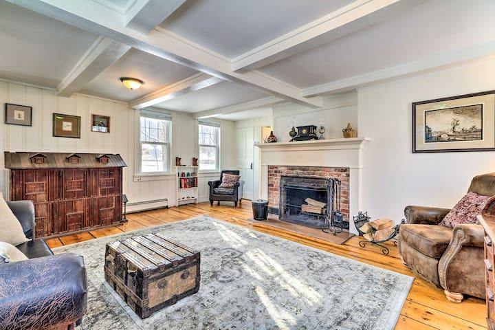 NEW! Restored 1800s Home, Half Mile to Otis Ridge!