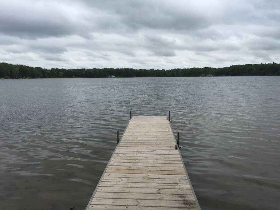 30 Feet dock, but only 25 feet is in the water