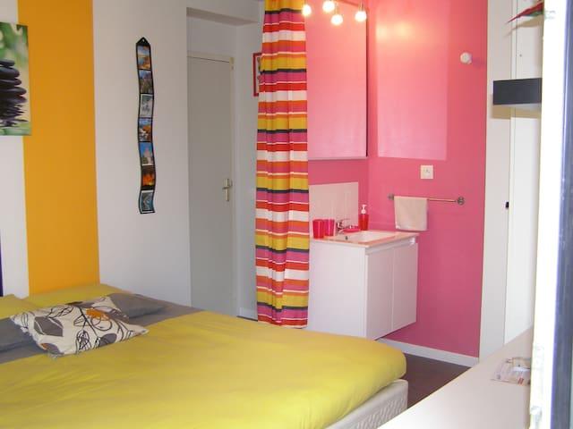 Chambre chez l'habitant avec petit jardin