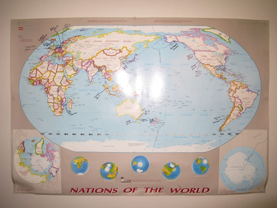 World map for you to add your name to :-)