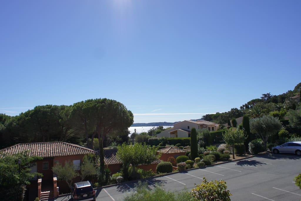 The view from our apartment 200 metres to the beach