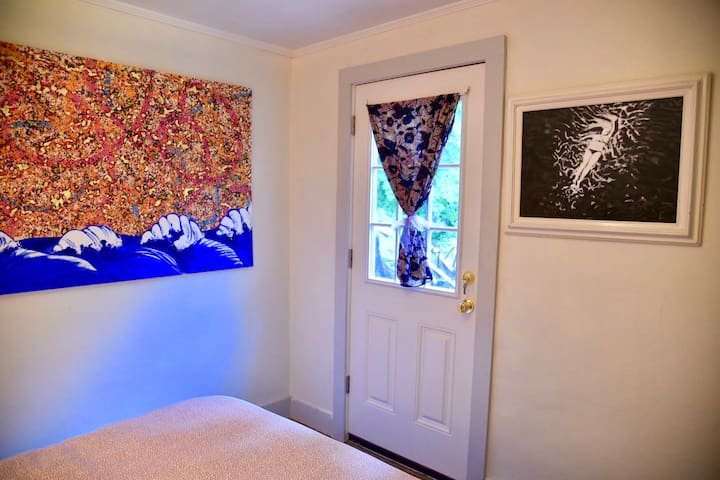 Bedroom with Door to Garden