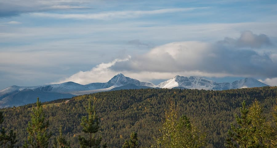 The view from the terrace - Rondane
