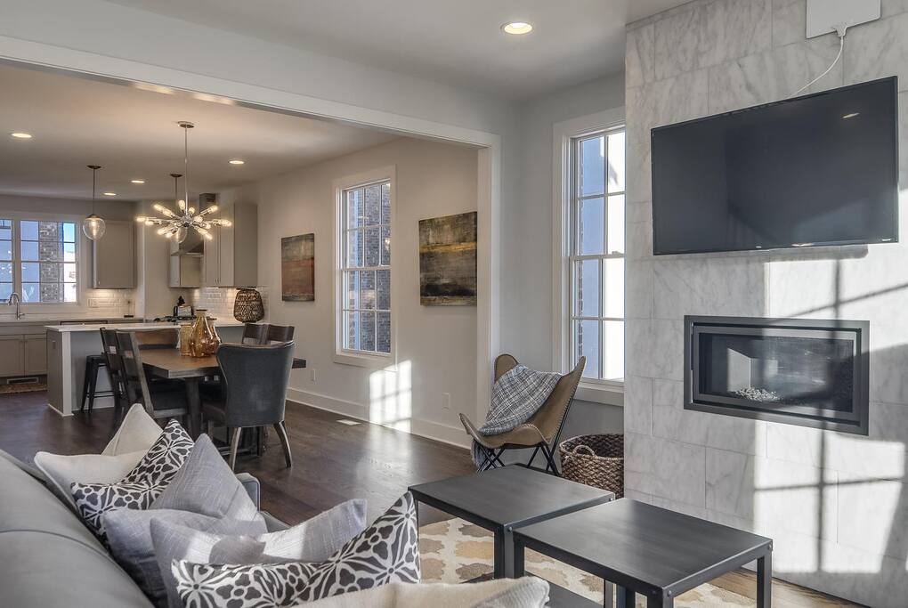Open concept living room.