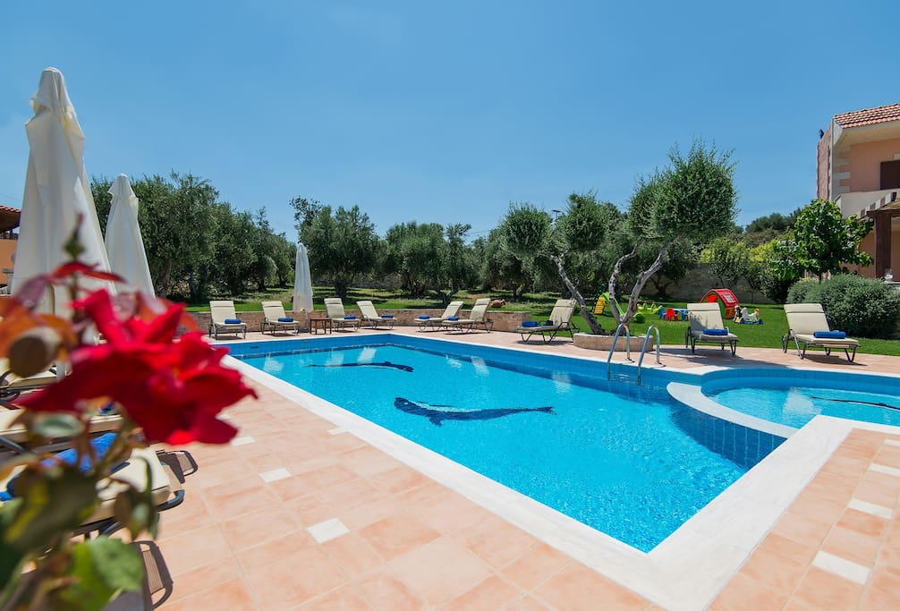 Lay by the pool and enjoy the sun!