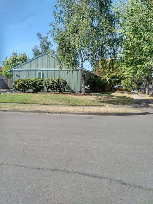 Corner Street View of House