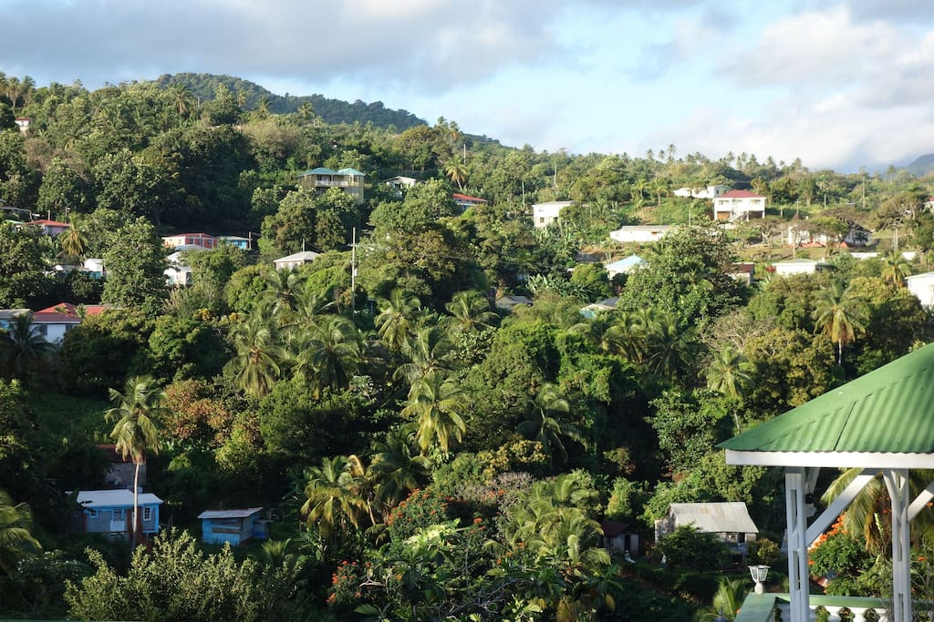 Marigot Village, seen from 'My Father's Place'.
