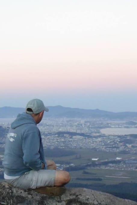 Apreciando a bela paisagem!