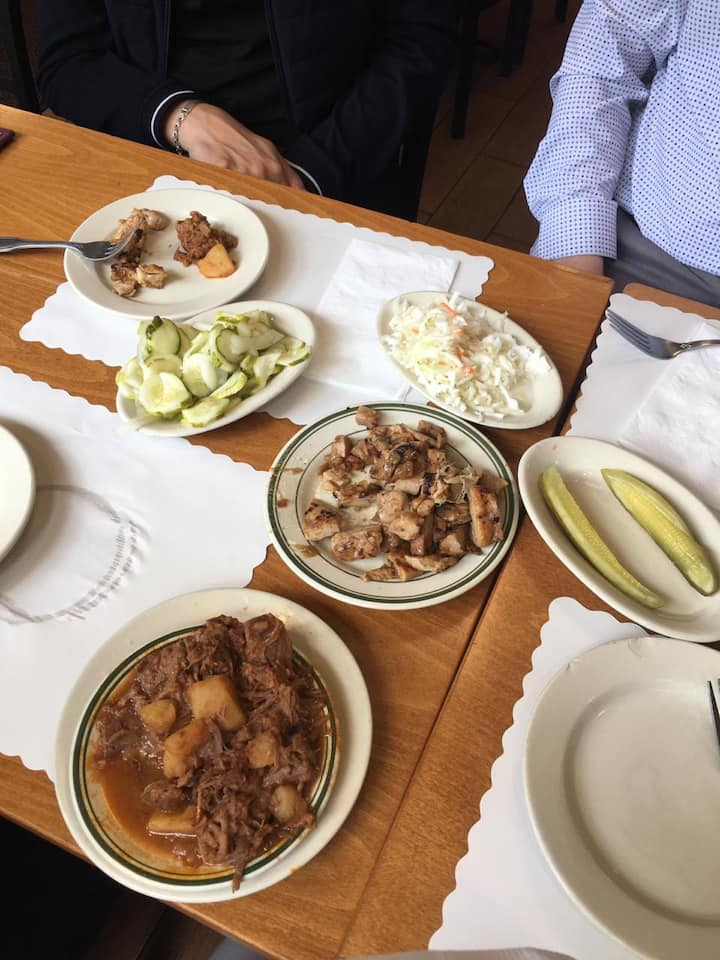 Traditional Hungarian food tasting