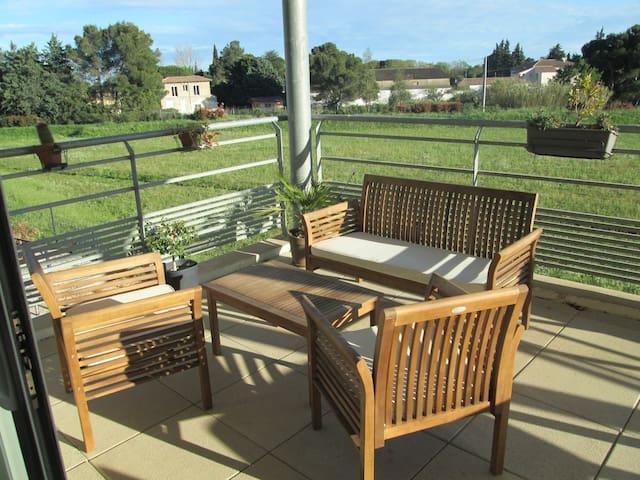 3 pièces avec terrasse en Camargue - Aimargues - Huoneisto