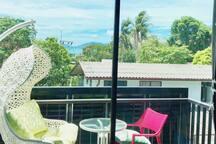 Balcony  2-nd floor, sea view.