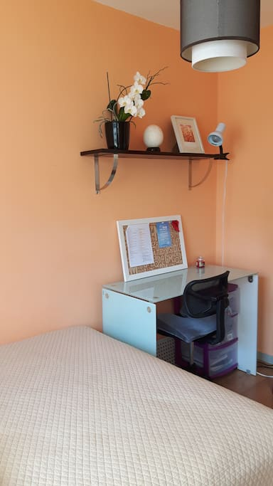 Working space in guest room