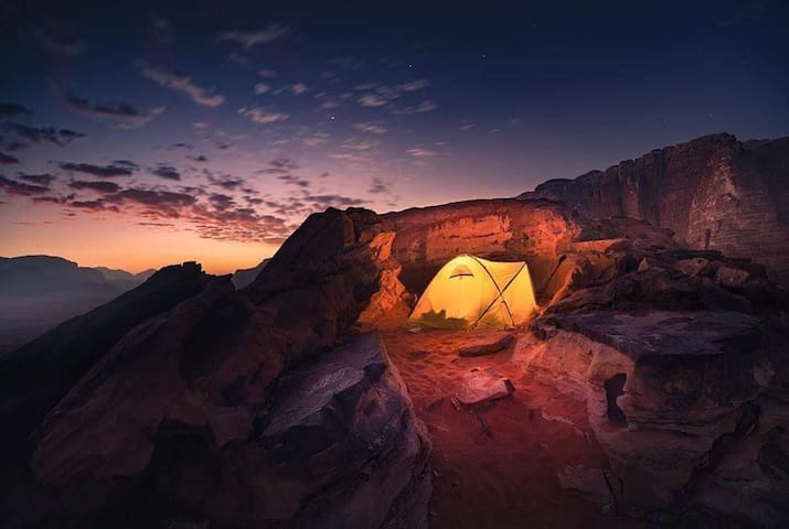 Sleep in the desert where you are closer to nature
