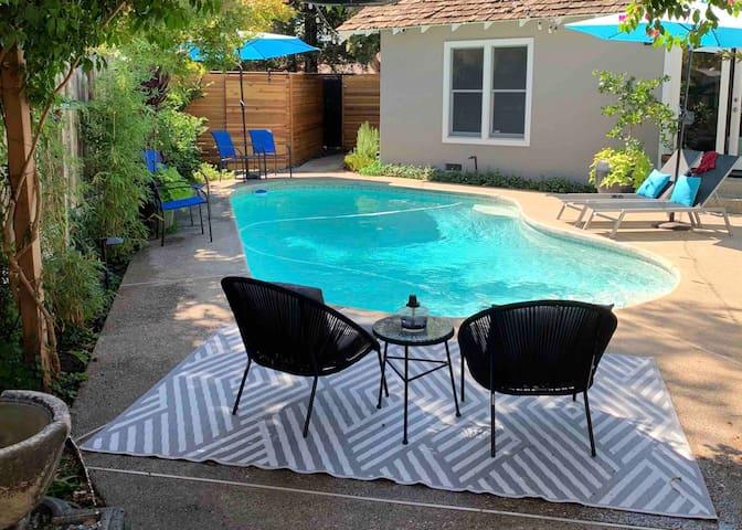 Open, Modern House: Luxury w/ Pool + Yard; 2BD/2BA