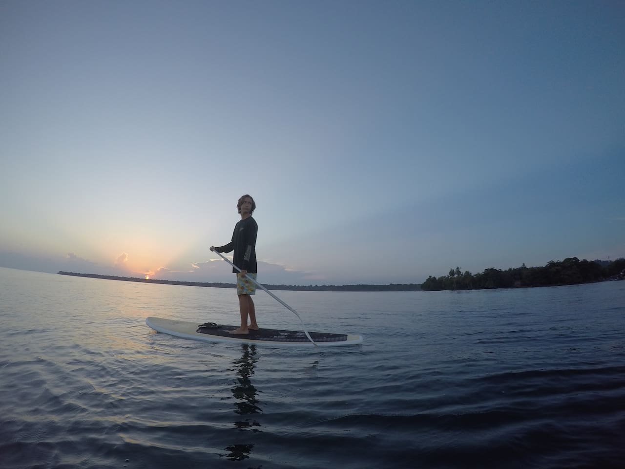 Morning paddle to watch the sunrise with my son, he still made it to school on time.