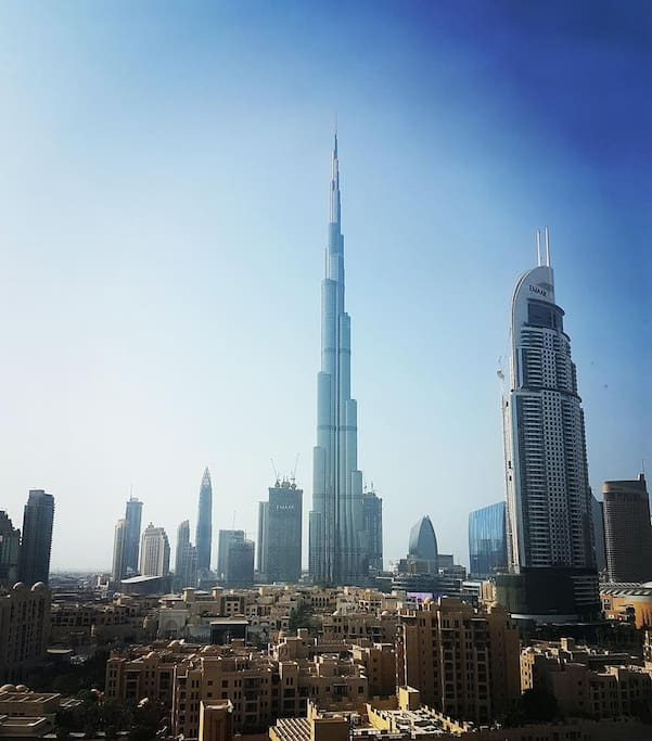 Enjoy incredible, uninterupted views of the Burj Khalifa without even having to leave the apartment...