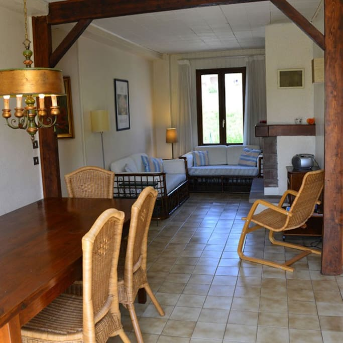 Combined dining and sitting room