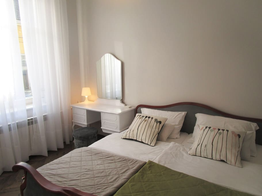 Small bedroom with double bed