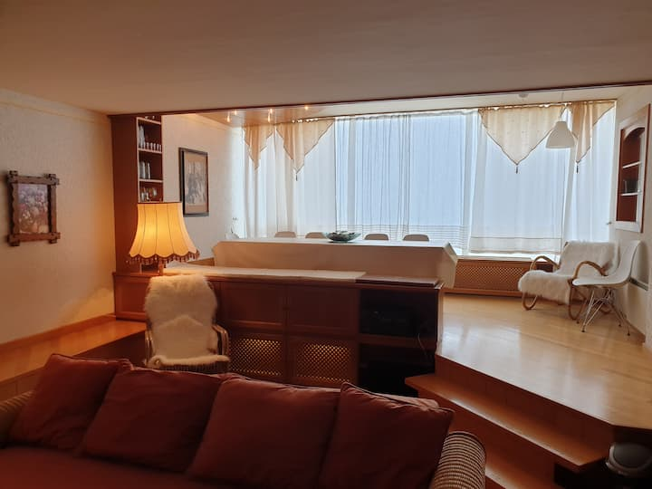 Apartment with Panorama glas, Jacuzzi and Infrared