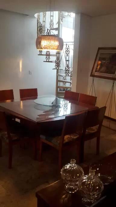 Sala de jantar da casa