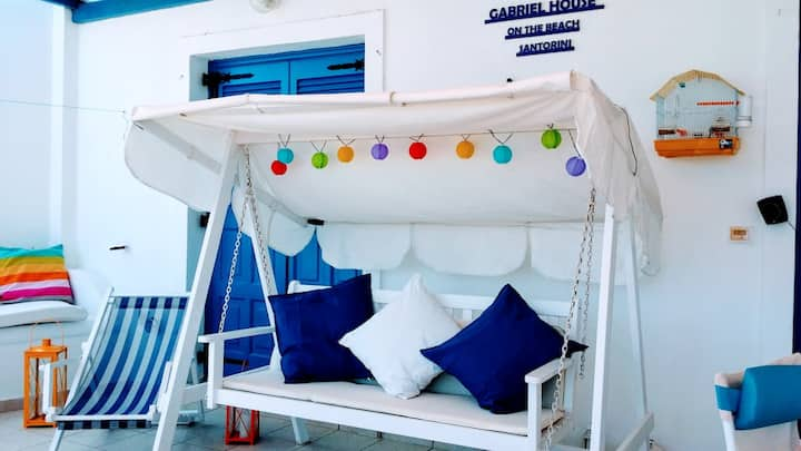 House with 2 bedrooms in Monolithos, Santorini Island, with wonderful sea view, furnished terrace and WiFi