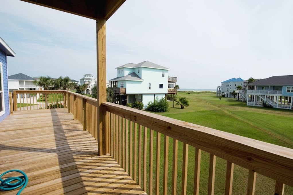 Main Balcony Facing Gulf is Large & Partially Covered