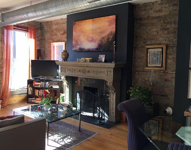 Exquisite art filled designer brick loft/West Loop - Chicago - Loft