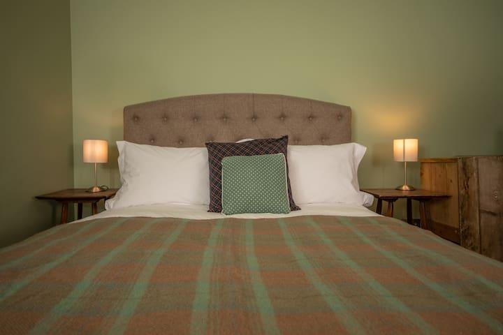 Carefully chosen luxury bedding.