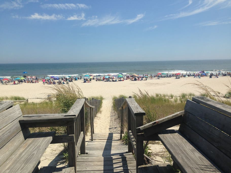 Oceanfront house at the beach of surf city at nj houses for Ocean city nj surf fishing report