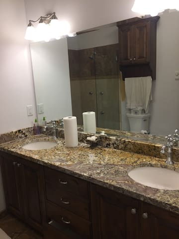 Private Bathroom, Two Sinks