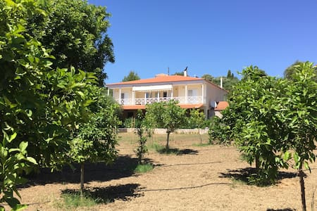 Villa The Blue Olive with sea-view + tennis-court