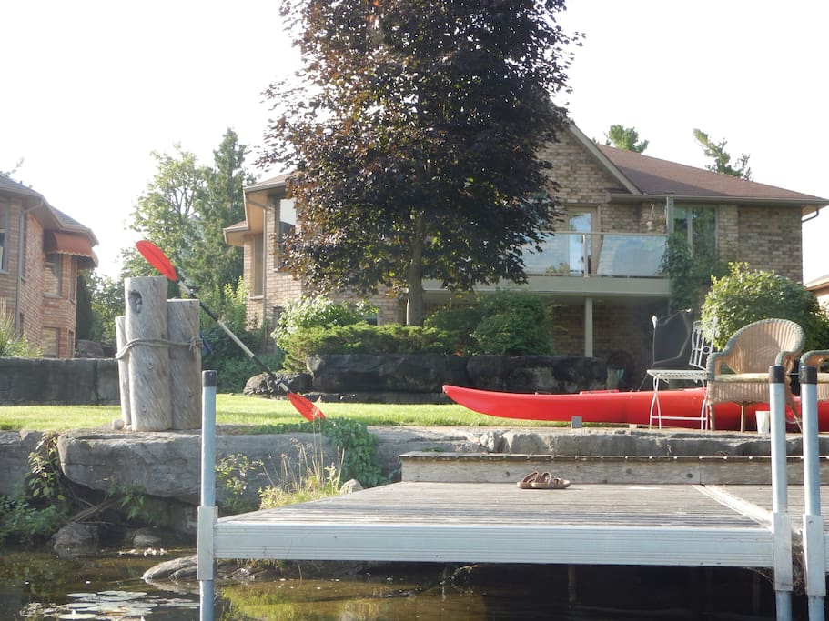 Easy to launch our Kayaks from the dock
